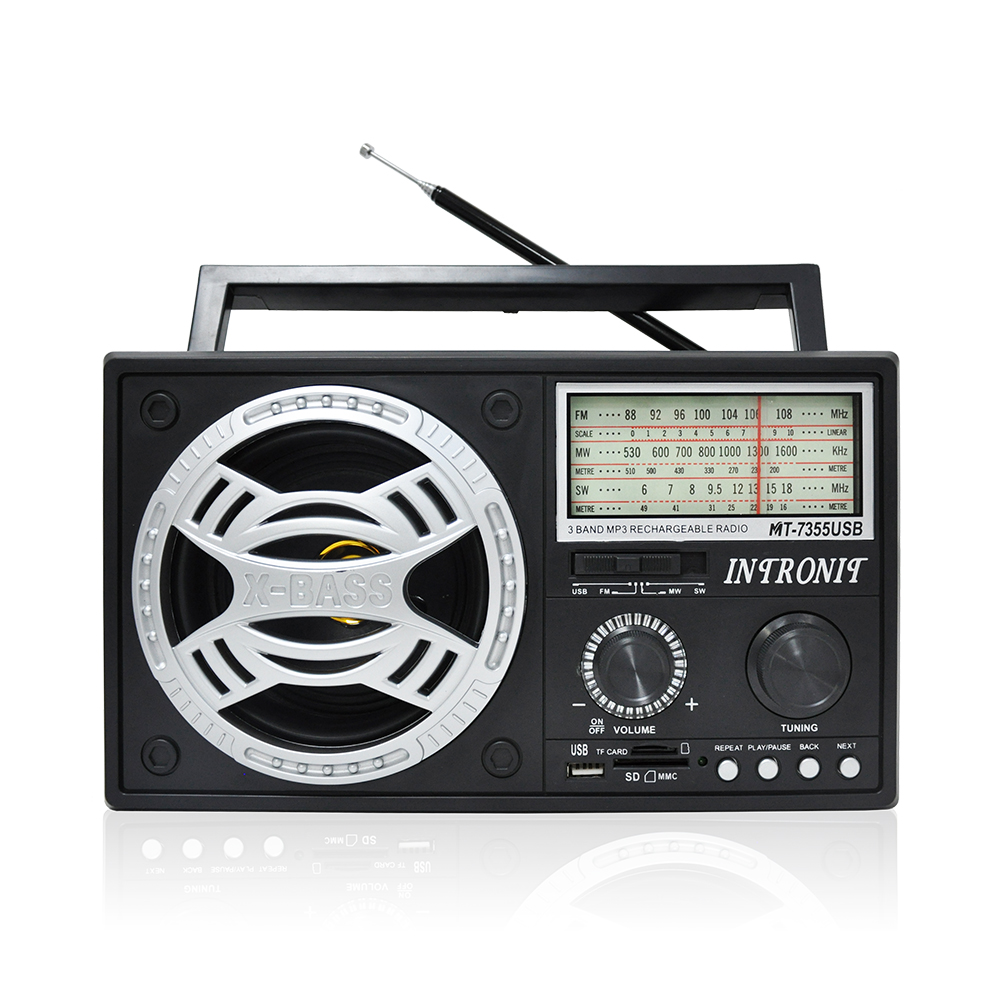 X-bass high power am fm portable radio big world digital radio receiver bass high quality portable radioEL-7355