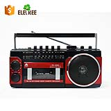 PX-250Uportable retro stereo vintage cassette radio player recorder with usb memory card port