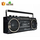 portable retro stereo vintage cassette radio player recorder with usb memory card port PX-149U