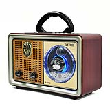 M-U1102017 guangzhou retro kemai am/fm radio WITH X-BASS with light