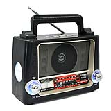 2017 Brazil reciver radio radio fm speaker with led disco lightP-028U
