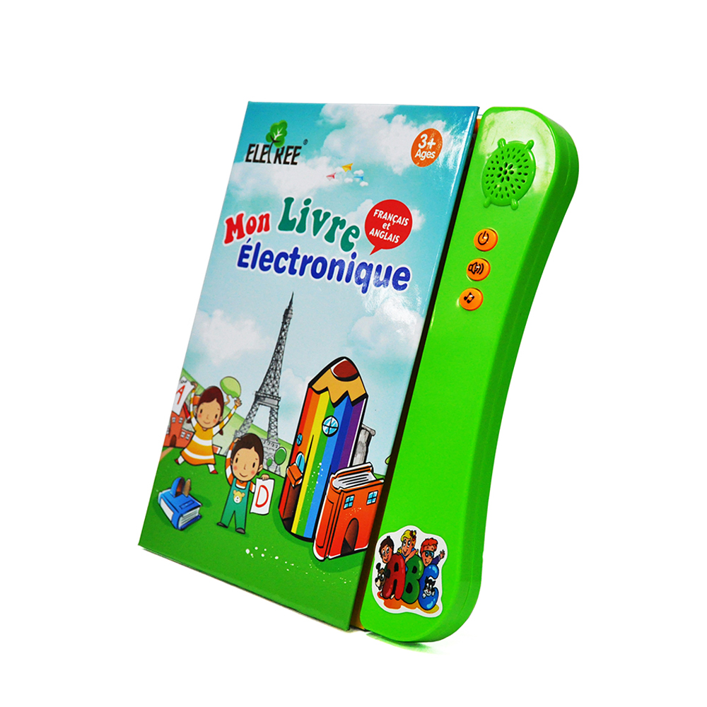 ELB-11Toys for kids 2018 France kids english talking pen book books with animal sounds button with sound for kids in english