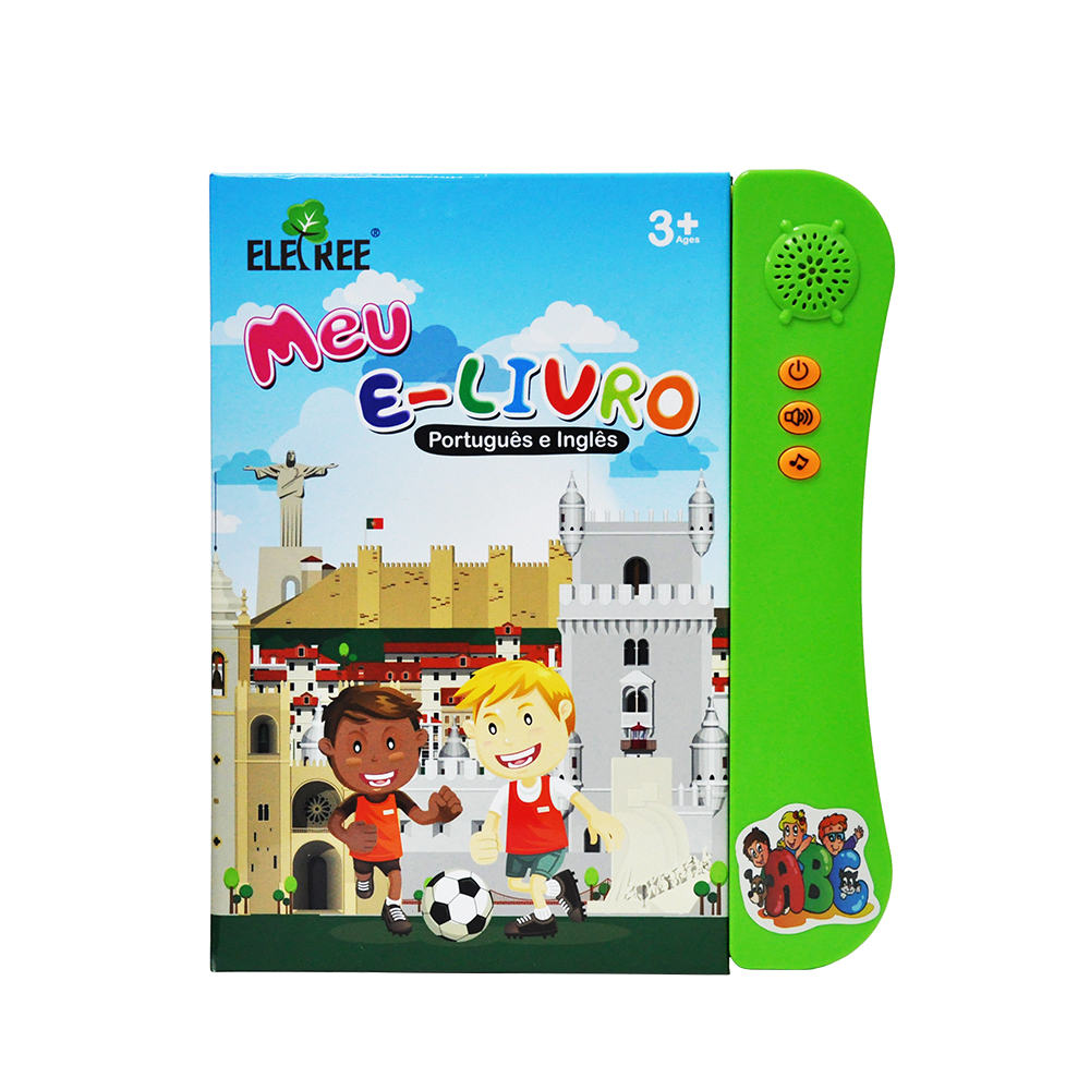 2018 Portuguese for kid early english learning educational talking board books sound book with pen/sound books and kids
