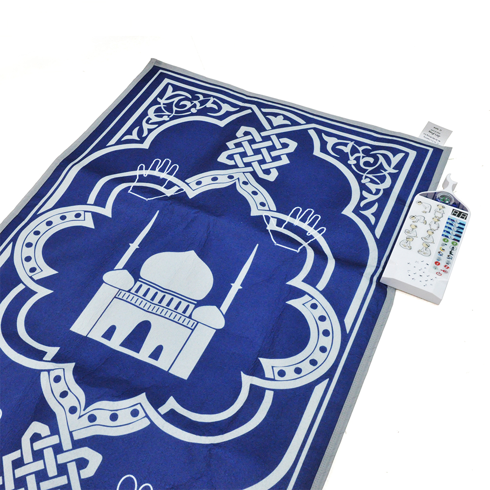 ELETREE beautiful design stock muslim interactive mini e sejadah mosque educational prayer mat carpet for kids