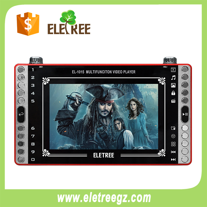 EL-1015-Eletree 8inch tempered double glass mp4 7 inch full hd hot video player with pdf reader