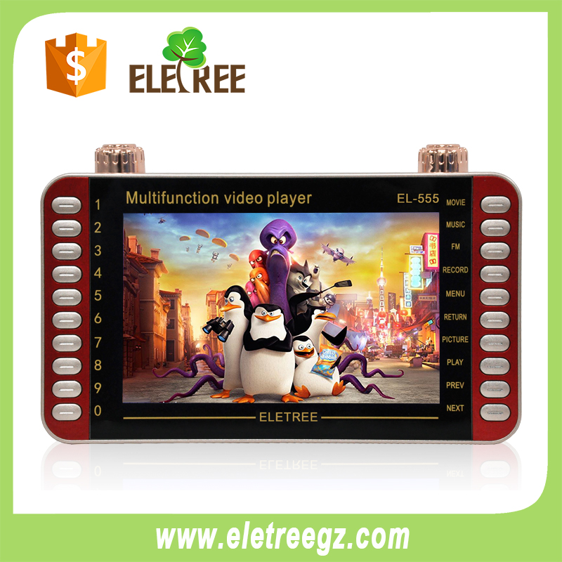 EL-555-ELETREE AT STOCK 7INCH kids mp4 player multi function video player x-bass