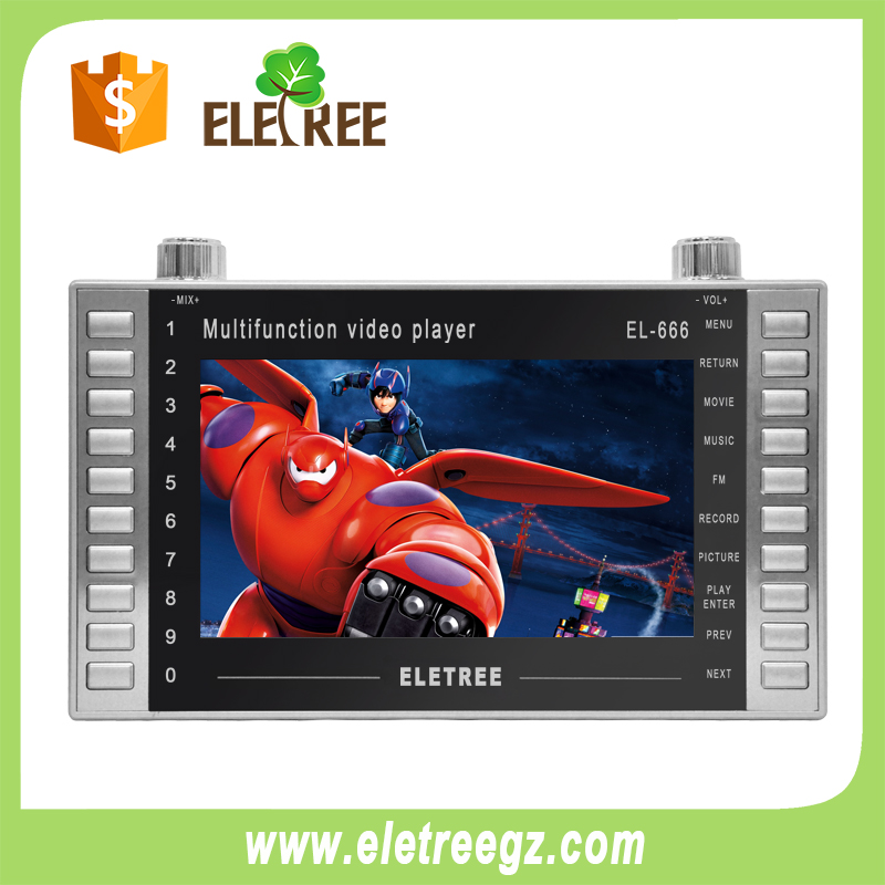 EL-666-7 inch MP4 Player Moive Player mp4 download hindi video songs
