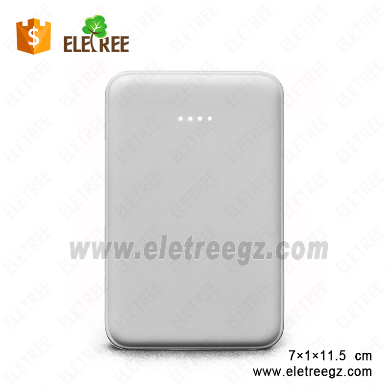 ELC-301-5000mAh Slim Portable Battery Charger USB Cable Pocket External Battery Pack rohs power bank 5000mah with LED Indicator