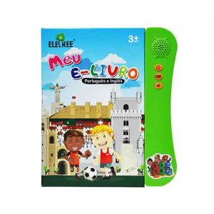 ELB-12MULTI-BANBulk wholesale educational bilingual children learning English Portuguese electronic book for kids