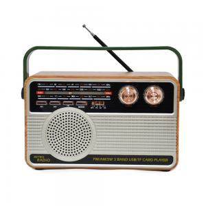 Portable vintage emergency broadcasting equipment usb sd card reader speaker other transmitter 3 way am fm sw radio 506